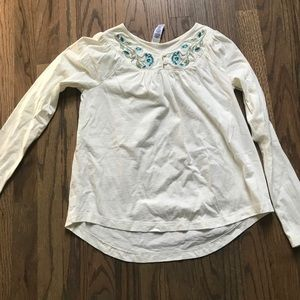 Tea Collection long sleeve girls top size L 8-10